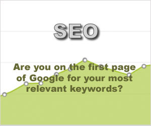 Image using light green graph rising from left to right with large font SEO text.