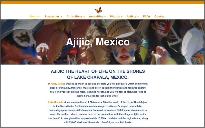 Website design for www.escapetoajijic.com